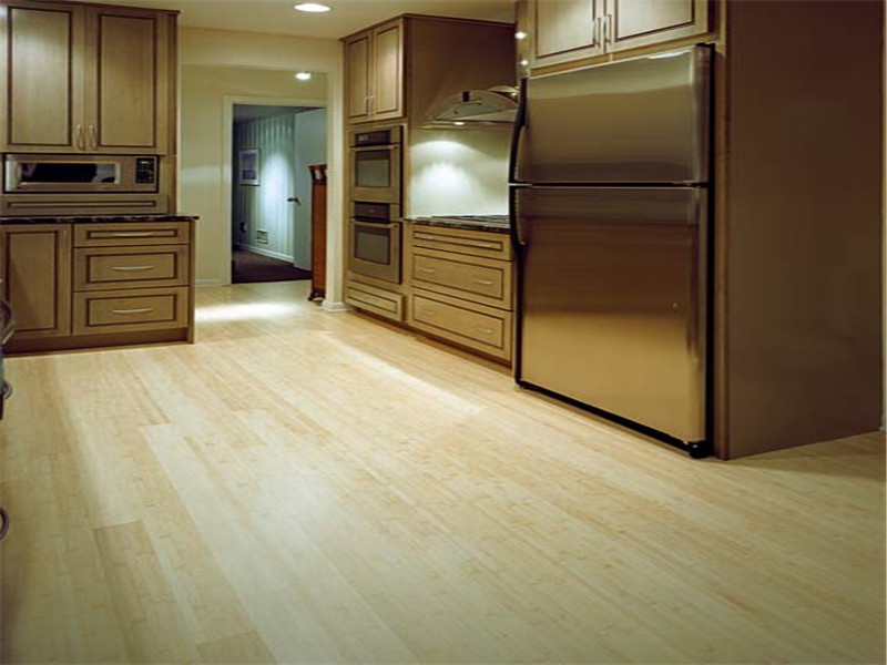 Solid Horizontal Bamboo Parquet Flooring Horizontal