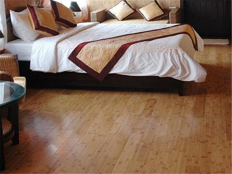 solid horizontal bamboo parquet flooring